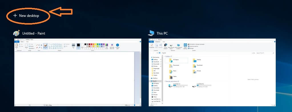 Virtual Desktop Windows 10