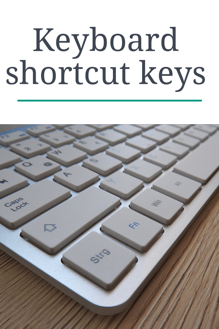 keyboard shortcuts keys