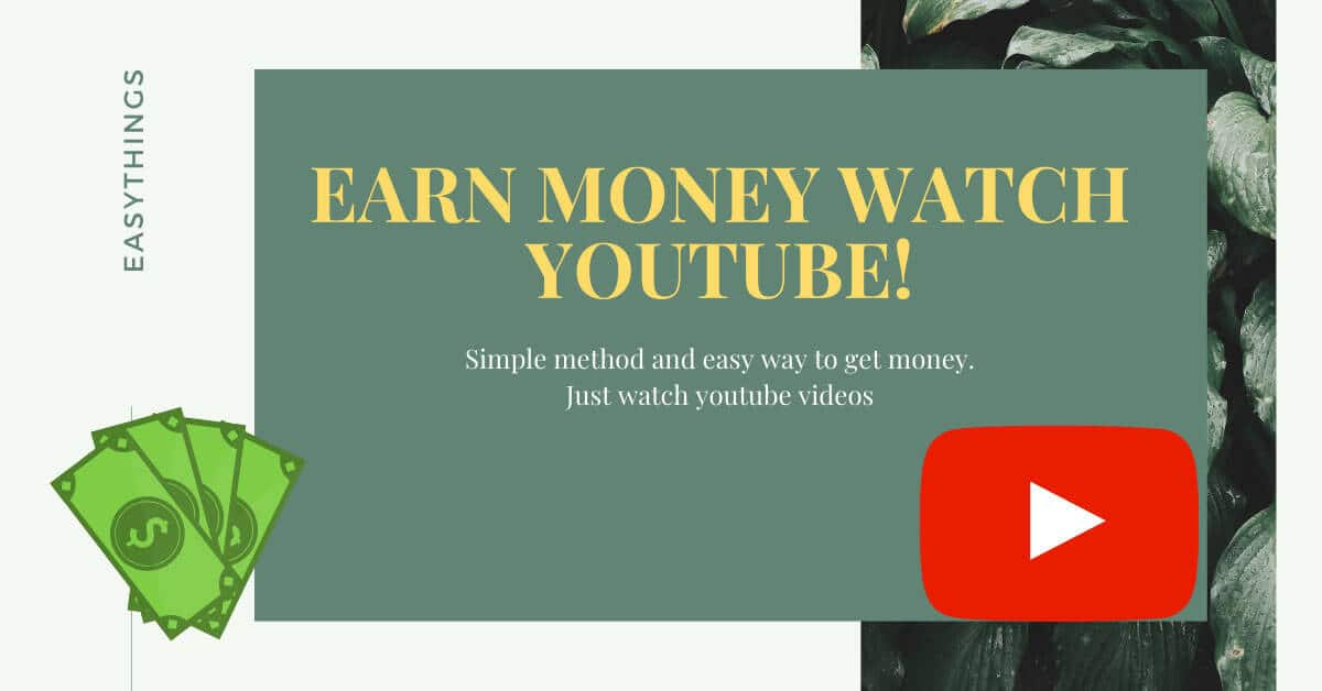 earn money watch youtube