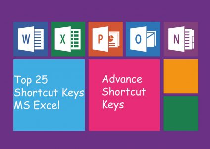 Shortcut Keys Of MS Excel