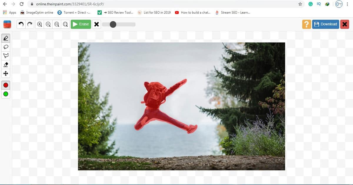 remove unwanted objects from photos free online