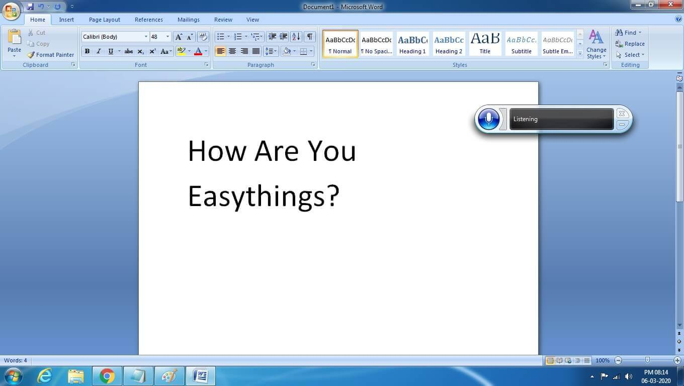 voice typing in ms word
