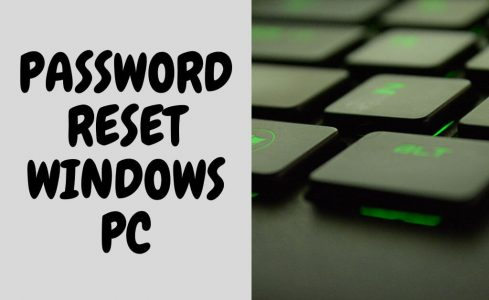 password reset windows pc